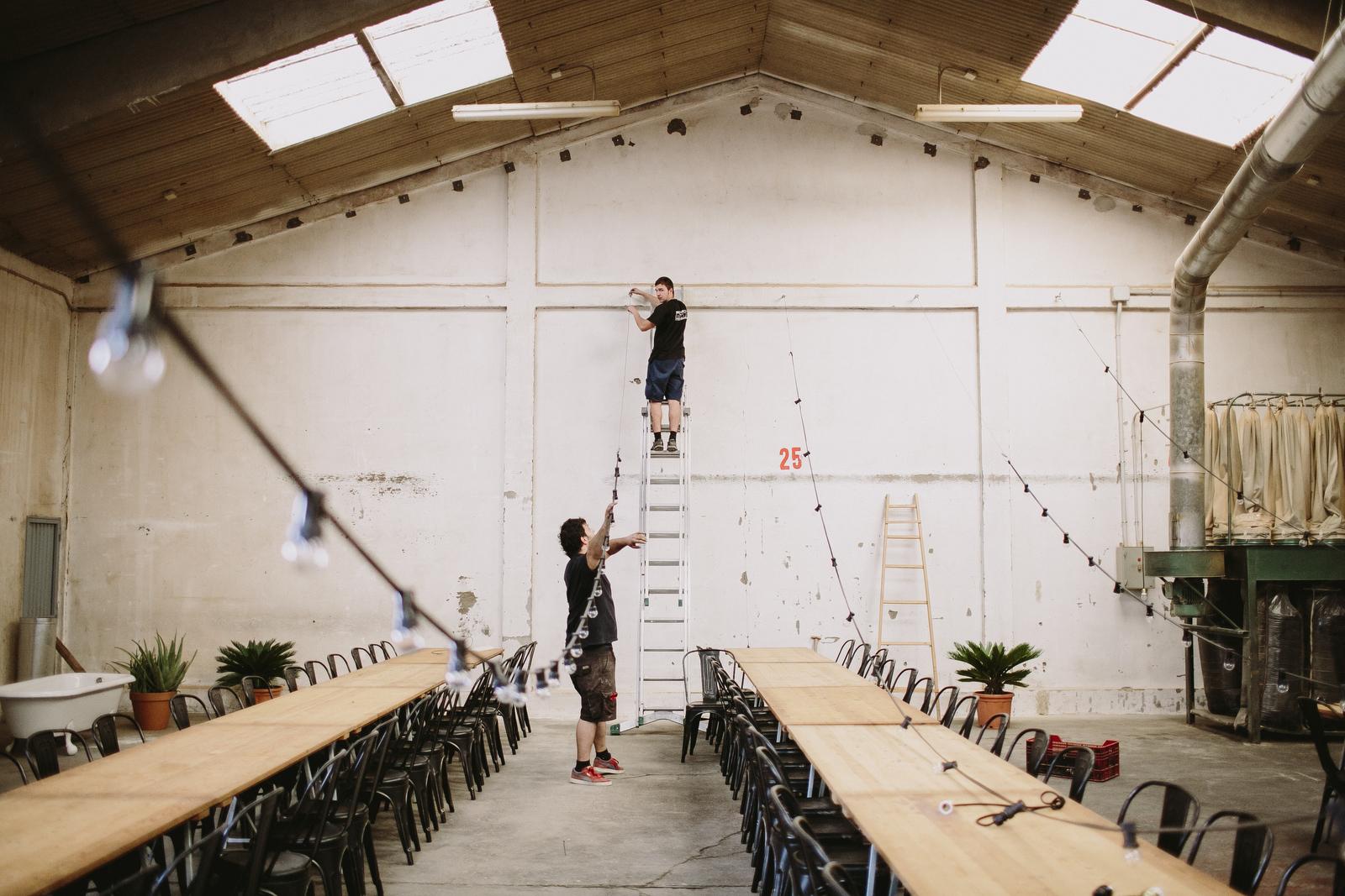 guirnaldas de bombillas para bodas